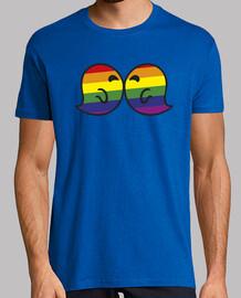 bacio gaysper uomo, manica corta, giallo limone, qualità extra
