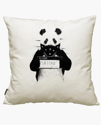 Housse de coussin bad panda