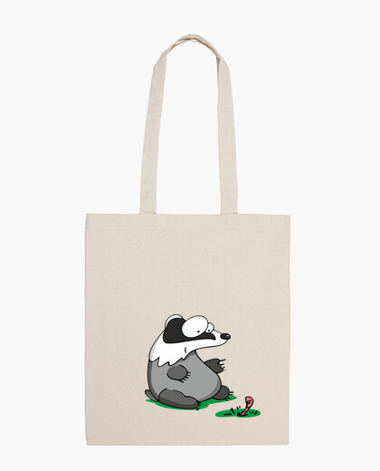 Badger and worm bag