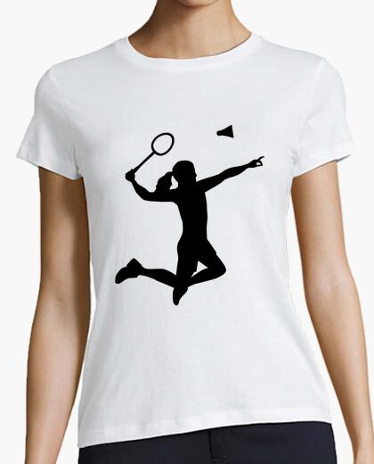 T-Shirt badminton-frauenmädchen