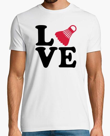 Badminton love t-shirt