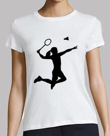 Badminton woman girl