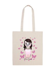 bag tela kokeshi marie villalón