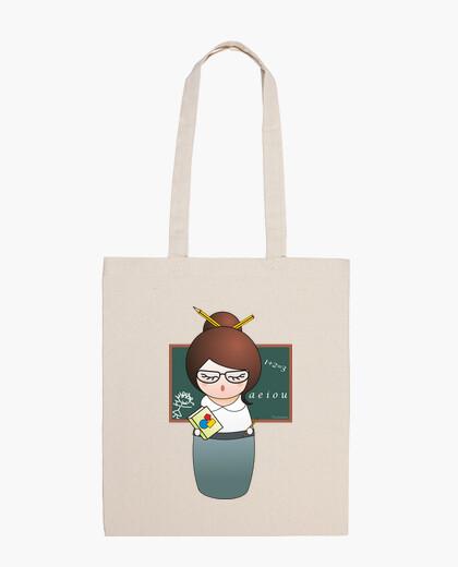 Borsa bag tela kokeshi professore