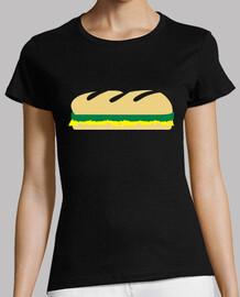 baguette de sandwich de ensalada de queso