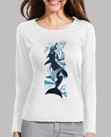 bailando entre tiburones