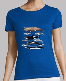 baleines, cachalots, baleines et dauphins chemise