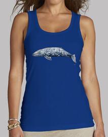 balena grigia t-shirt donna