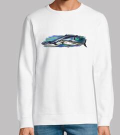 Ballena y tiburón