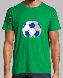 ballon bleu et football blanc