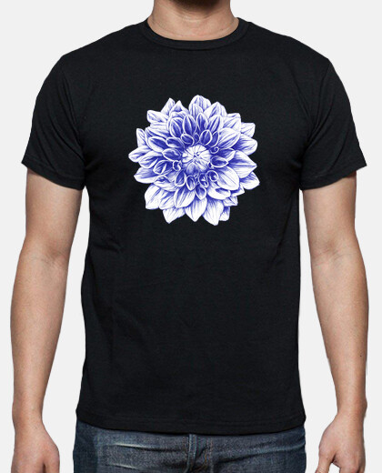 ballpoint blue dahlia