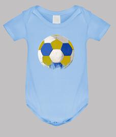Balon azul y amarillo FÚTBOL