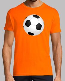 Balón de fútbol ilustración camiseta naranja