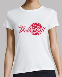 balón de voleibol de rojo