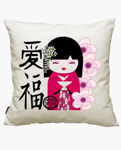 Fodera cuscino bambola giapponese