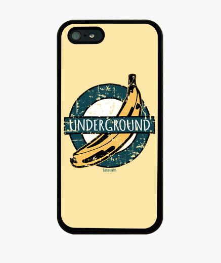 Coque iPhone banane  vintage  souterraine