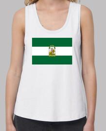 Bandera Andalucía con escudo