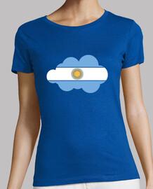 Bandera Argentina nube