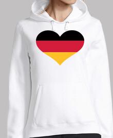 bandera de alemania corazón