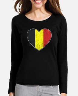 bandera de bélgica amor corazón