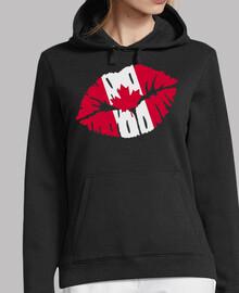 bandera de canada beso