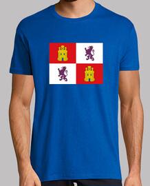 Bandera de Castilla y León con escudos