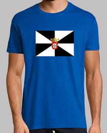 Bandera de Ceuta con escudo