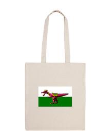 Bandera de Gales con dragón Golden Axe