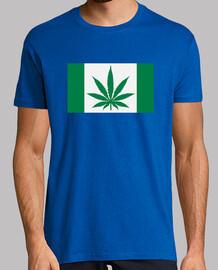bandera de la hoja de marihuana