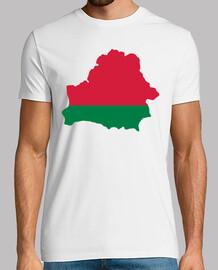 bandera de mapa de bielorrusia