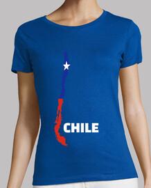 bandera de mapa de chile