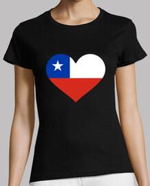 bandera del corazón de chile