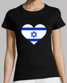 bandera del corazón de israel
