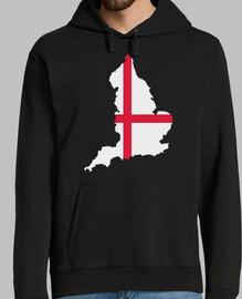 bandera del mapa de Inglaterra