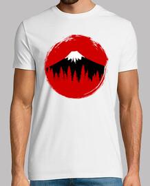 Bandera japonesa Fujiyama