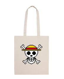 Bandera One Piece 8bit (Bolsa)