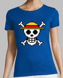 Bandera One Piece 8bit (Camiseta Mujer)