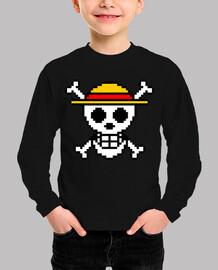 Bandera One Piece 8bit (Camiseta Niño)
