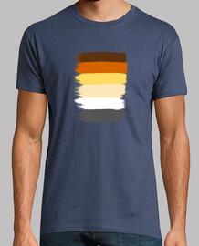 Bandera Osos Gay Hombre, manga corta, denim, calidad extra