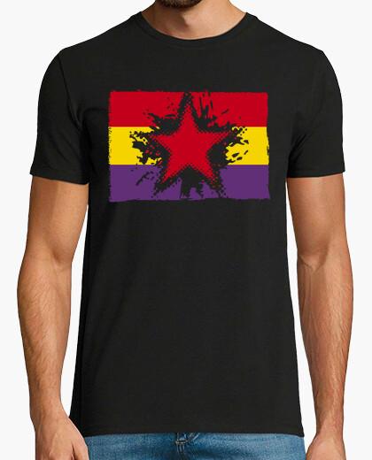 Camiseta Bandera Repúblicana Con Estrella Grunge