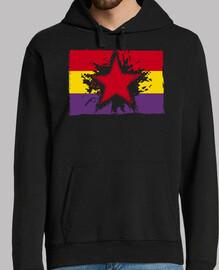 Bandera Repúblicana Con Estrella Grunge