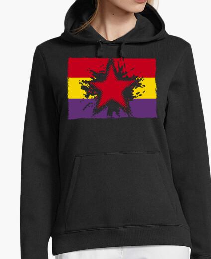 Jersey Bandera Repúblicana Con Estrella Grunge