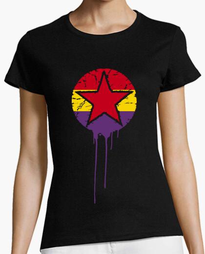 Camiseta Bandera Repúblicana Con Estrella Pintur