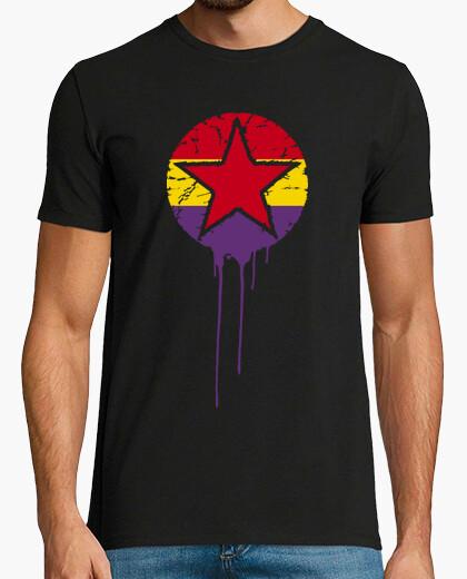 Camiseta Bandera Repúblicana Con Estrella Pintura
