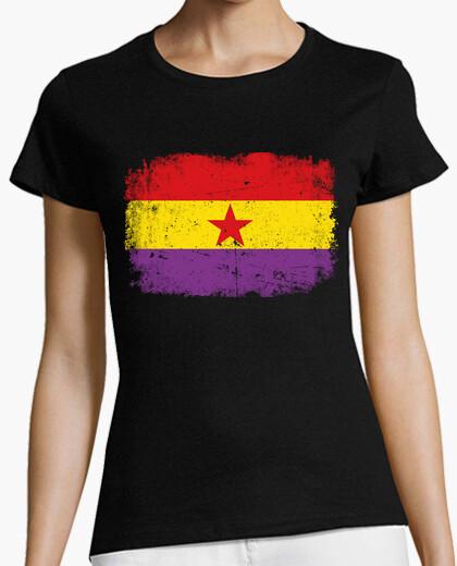 Camiseta Bandera Republicana Desgastada