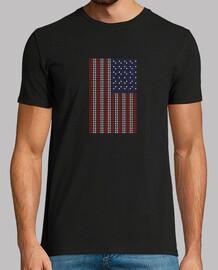 Bandera USA pixel art