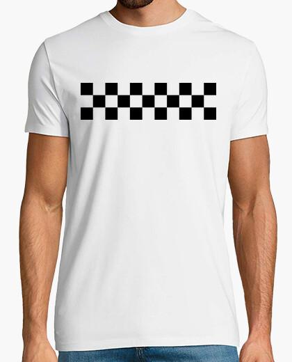 T-shirt bandiera a scacchi