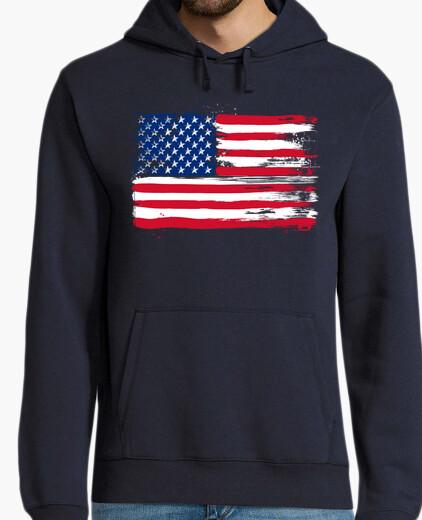 nuovo prodotto bf8db 79a2c Felpa bandiera americana
