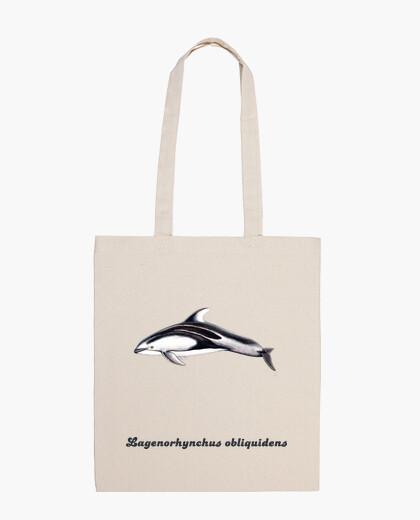 Bolsa Bandolera 100 algodón delfín de flancos blancos