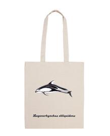 Bandolera 100 algodón delfín de flancos blancos